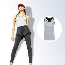 Соединенные Штаты назад печать yoga одежда рубашка имеет грудь площадку дышащий fast dry Бег фитнес-упражнения жилет