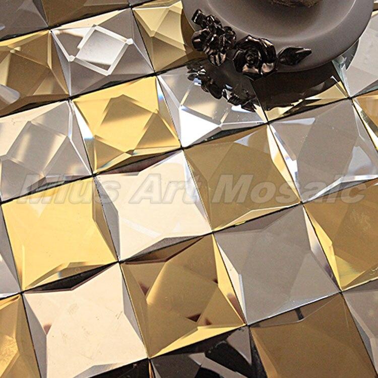 Gold Beveled Glass Mirror Tiles B6006 Tile Tile Mirrortile Glass Aliexpress