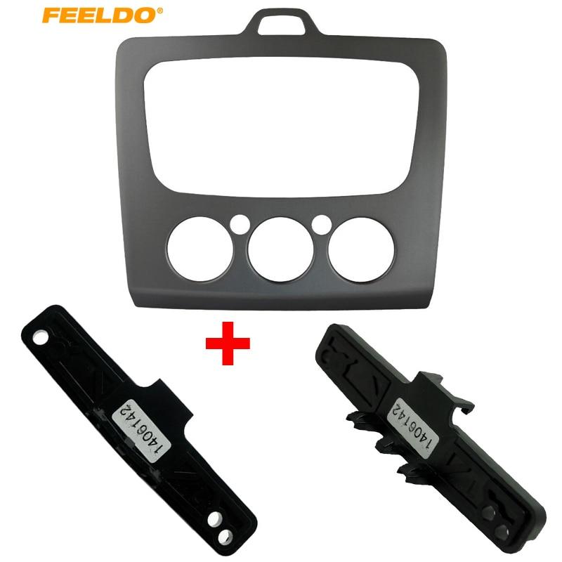 FEELDO Car DVD Frame Fascia Dash Panel For Ford Focus MK2 (05~07) into MK2.5(09~13) +Car Stereo Conversion Mounting Bracket Kits|dvd frame|car dvd frame|fascia panel - title=