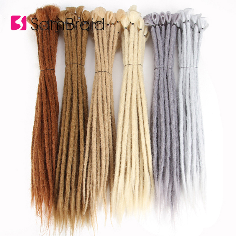 SAMBRIAD 20 Inch Handmade Dreadlocks Hair Extensions Crochet Braid Reggae Crochet Hair Synthetic Dreads Hair Braiding Hair