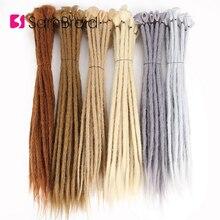 SAMBRIAD Dreads 20 inch Handmade Dreadlocks Extensions Reggae Crochet Hip-Hop Synthetic Dreads Crochet Braiding Hair