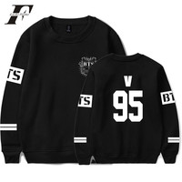 Kpop BTS Bangtan Boys Hoodie Black Sweatshirt Suit Long Sleeve Hoodies Men Hip Hop Clothing Winter