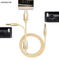 Pour Letv Aux Câble 2 en 1 USB Type C + Double 3.5mm Aux Audio Cordon Câble Adaptateur pour iPhone Xiaomi Huawei Android Samsung Moto z
