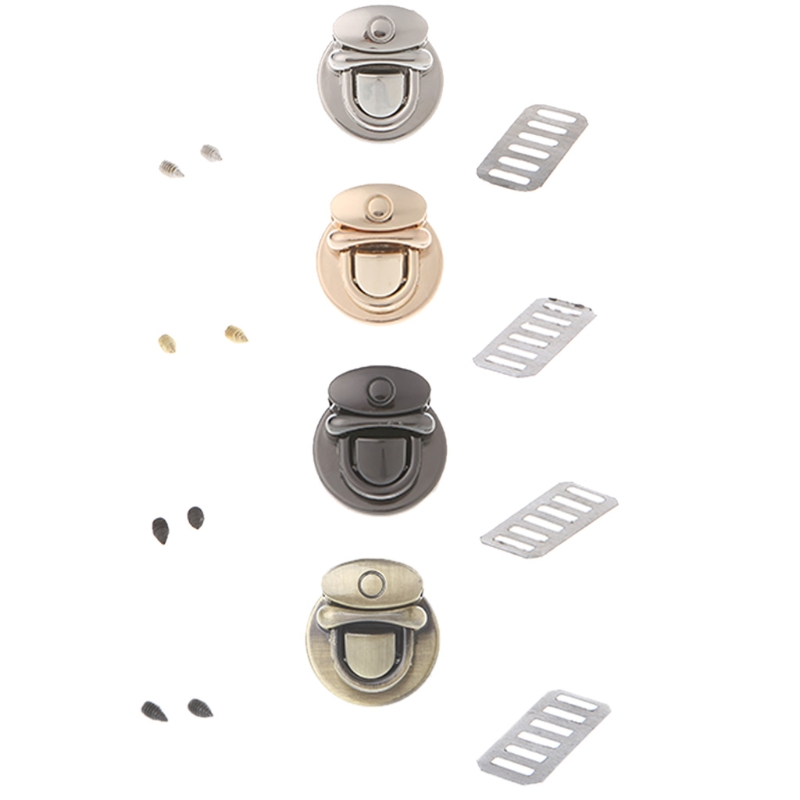 THINKTHENDO Hot Fashion Metal Round Shape Clasp Turn Lock Twist Lock For DIY Handbag Bag Purse Hardware