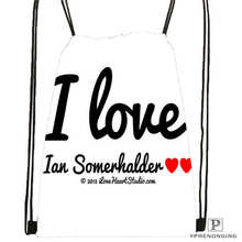 Custom Ian Somerhalder Lost Reunion Drawstring Backpack Bag Cute Daypack Kids Satchel (Black Back) 31x40cm#180611-03-102