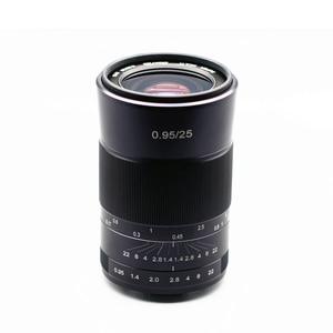 Image 5 - Kaxinda 25mm F 0,95 Standard Manuelle Prime Objektiv für Canon Sony Fujifilm Olympus Panasonic Spiegellose Kamera Große Blende f/0,95