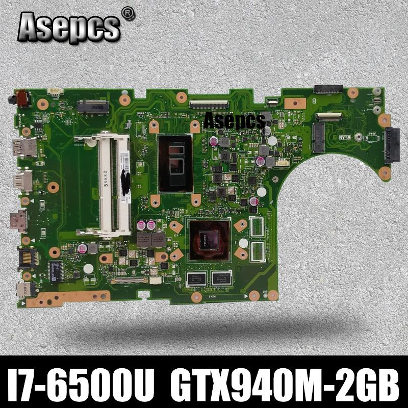 Asepcs X756UB MAIN_BD./I7-6500U GTX940M-2GB <font><b>DDR3</b></font> Mainboard For Asus X756U X756UXM K756U X756UB laptop motherboard test ok image