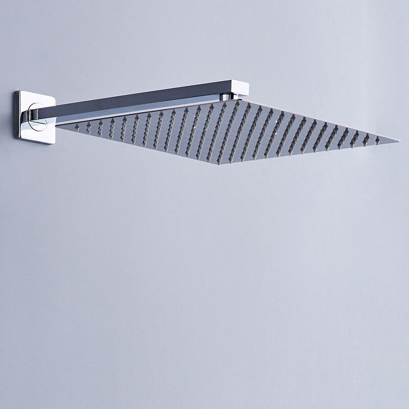 Free Shipping BAKALA 40cm*40cm Square Rainfall Shower 16inch Stainless Steel Shower Head Rain Shower Heads With 35cm Shower Arm new stainless steel 304 mesh 4 047 wire cloth screen filter 16 x16 40cm x 40cm