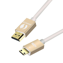 ANNNWZZD MINI HDMI TO HDMI CABLE High speed V1.4 TYPE A  to TYPE C Cable Support 1080p 1440p 3D for Tablets DVD PC HDTV Project все цены