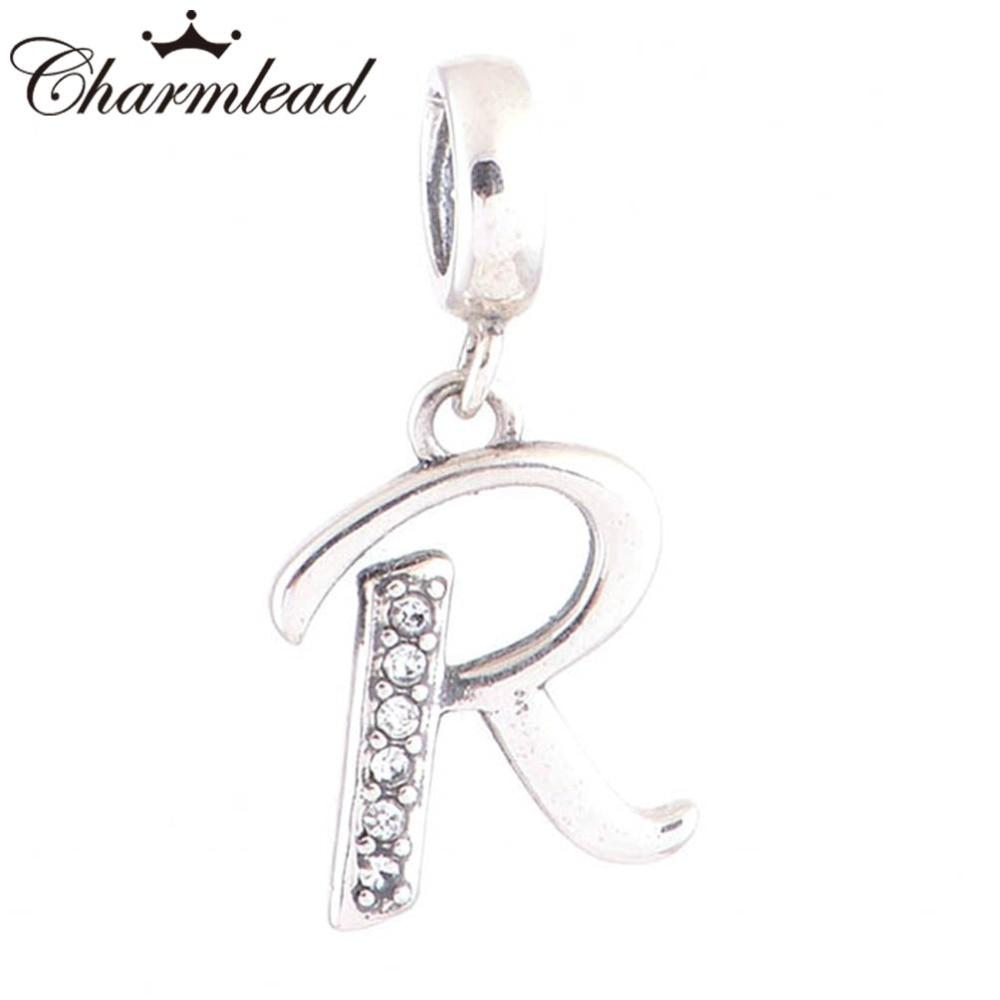 Charmlead 925 Sterling Silver Alphabet R Letter Charm