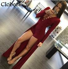 Women Jumpsuit Lace Up Design Hollow Out V-Neck Maxi Overlay Romper Summer Elegant Bandage Overalls Shorts Femininos Black Y898(China)