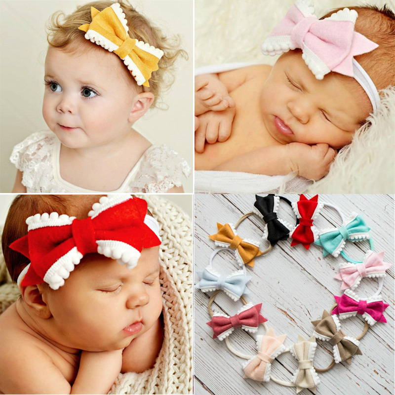 Balleenshiny 2019 New European And American Baby Girls Hair Accessories Super Soft Bow Type Childrens Hair Band Headband Mother & Kids