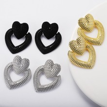 Miwens 2019 New Black Maxi Drop Dangle Earrings Women Geometric Romantic Cute Statement Earring Wholesale Jewelry Bijoux A287