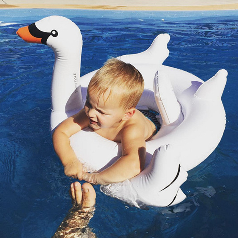 Baby Inflatable Unicorn Pool Float White Ride-On Pink Flamingo Swimming Ring Floating Water Holiday Party Toy For babies Piscina