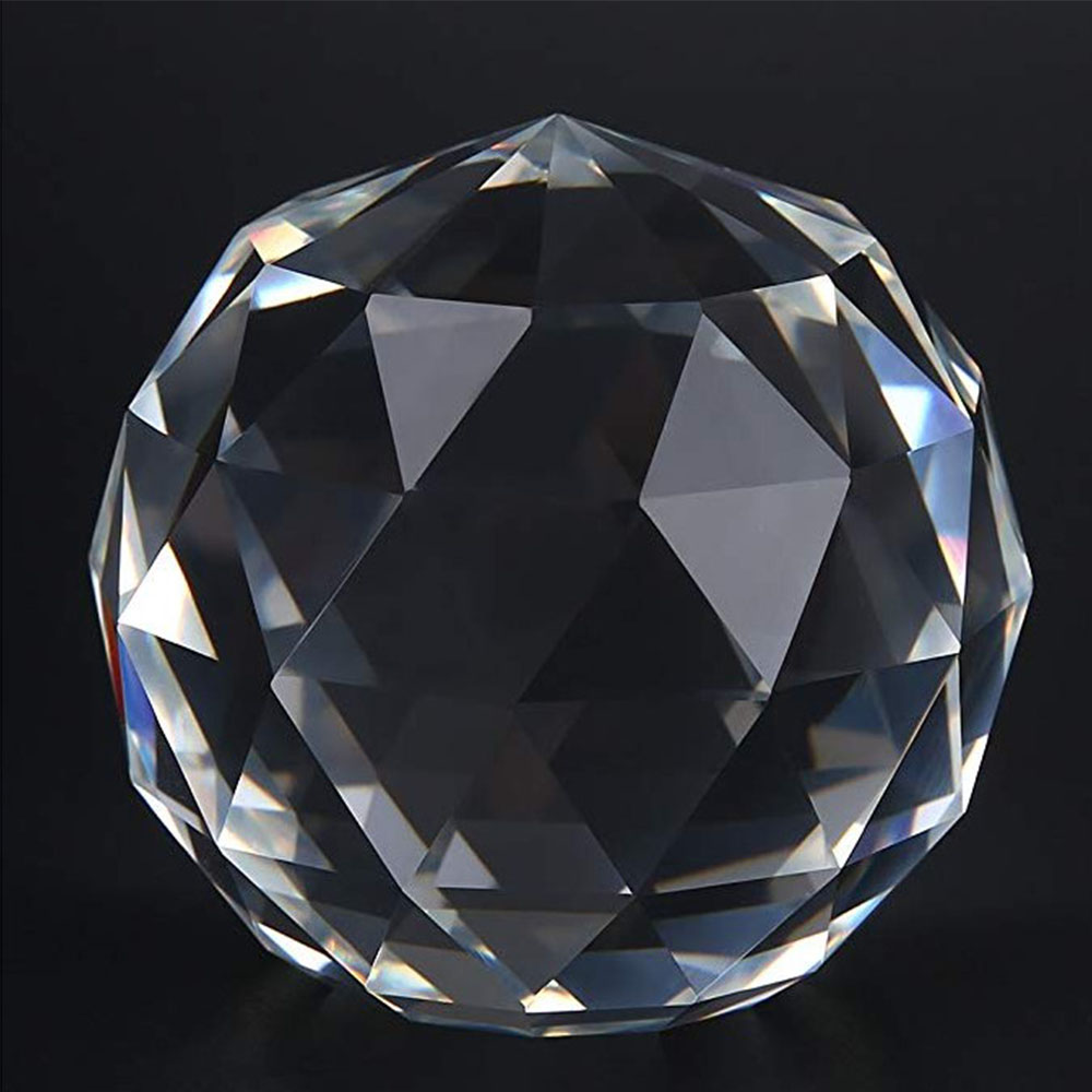 "100MM 4/"" Crystal Prism Ball Chandelier Glass Fengshui Decor Pendant Suncatcher"