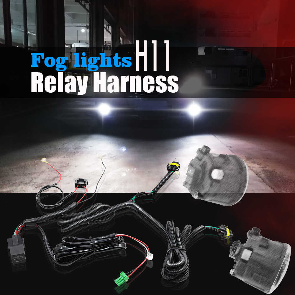 Cawanerl Fog Light Wiring Harness H11 Socket Wire + Switch with LED  indicator AT Relay For Honda CR V Pilot Accord Acura RDX TSX|Wire| -  AliExpresswww.aliexpress.com