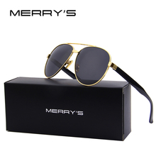 MERRY'S Fashion Sunglasses Women Brand Designer Clear lens Men's Pilot Sun glasses UV400 Shades Female S'8083