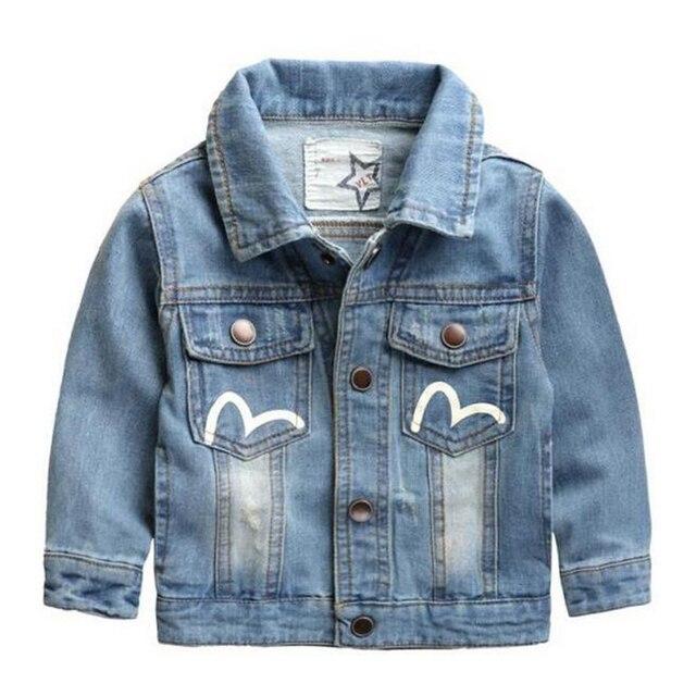 US $26.65 |2017 Baby Kinder Kleidung Jungen Jean Mantel Jeansjacke Herbst Mode Mädchen Strickjacke Kinder Oberbekleidung Kleinkind Jacken Kleidung in