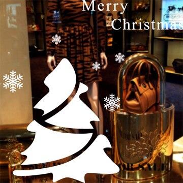 Free shipping Large 2015 Christmas tree glass window wall sticker decal home decor shop decoration X mas stickers xmas089