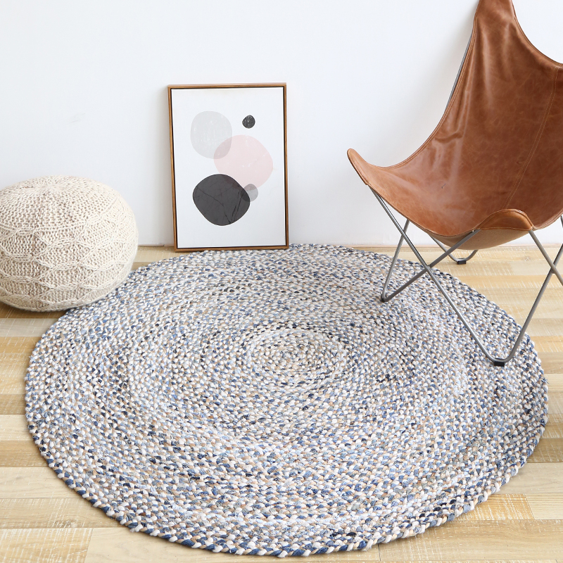 2018 offre spéciale travail manuel Jute tapis rond tapis de sol salon chambre thé Table étude Sisal tapis porte tapis