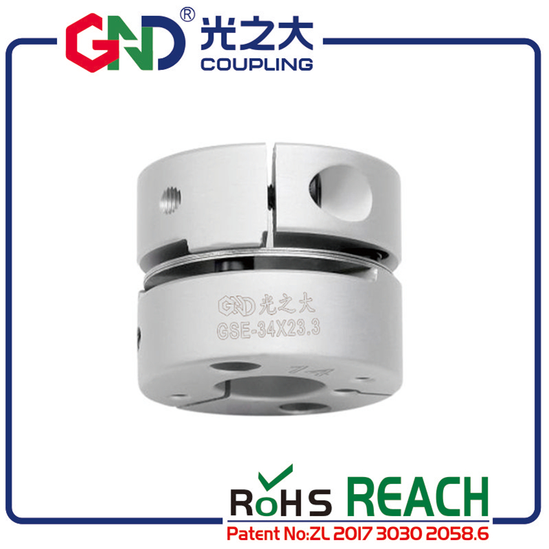 Coupling GND aluminum alloy CNC D28mm L21 5mm single diaphragm clamp for hollow encoder shaft coupling stepper motor connect in Shaft Couplings from Home Improvement
