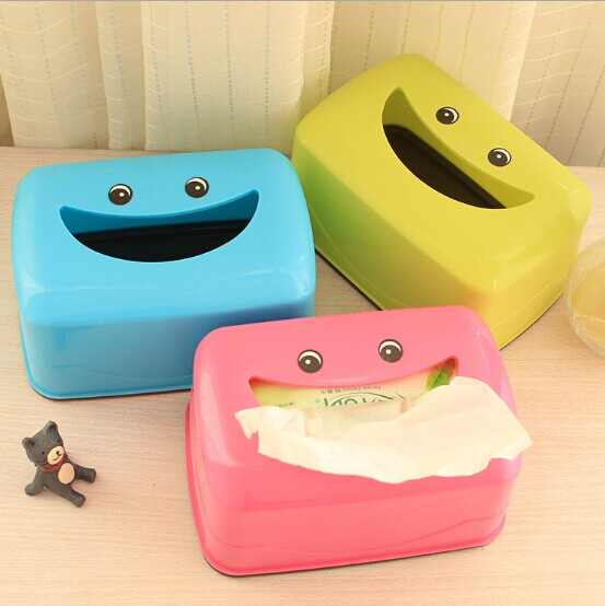 1PC Random Color Plastic Storage Wet Tissue Box Baby Wipes Box Tissue Container Living R ...