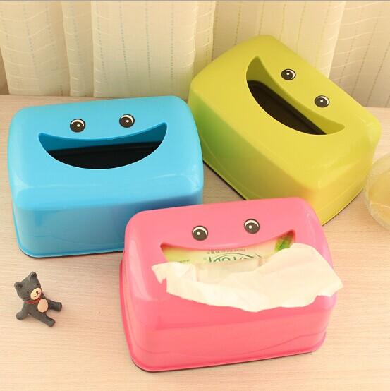 1PC Random Color Plastic Storage Wet Tissue Box Baby Wipes Box Tissue Container Living R ...