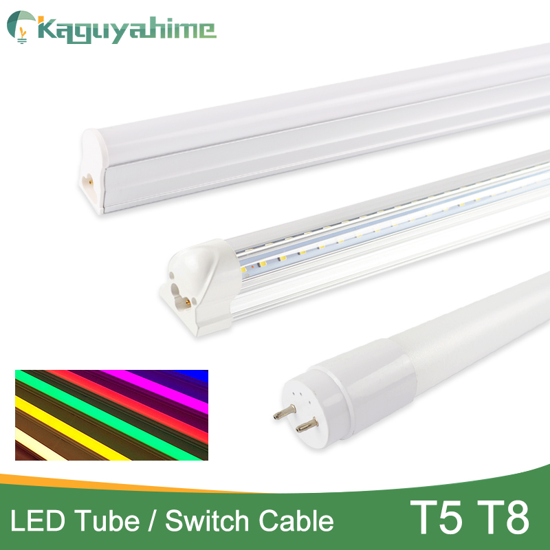 Kaguyahime EU Switch Cable Wire/Integrated 6w 10w 20w LED Tube T5 T8 Light 220v 240v 300mm 600mm 60cm Fluorescent T5 LED Lamp T8 image