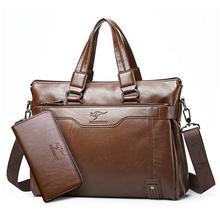 2017 männer Casual Aktentasche Business Schulter Leder Messenger Bags Computer Laptop Handtasche herren Reisetaschen handtaschen H288
