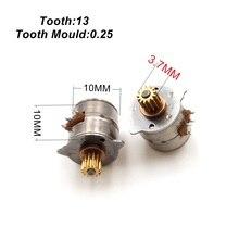 1 шт. микро шаговый двигатель 10 мм двухфазный четырехпроводный шаговый двигатель с 13 зубьями латунный редуктор