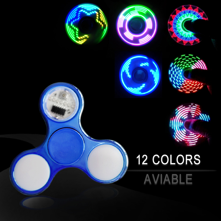 купить New Light Fidget Spinner Led Stress Hand Spinners Glow In The Dark Figet Spiner Cube EDC Anti-stress Finger Spinner по цене 145.51 рублей