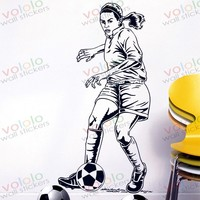 Free shipping Wall Stickers Wholesale and retail Wall decor PVC material decals wallpaper football World Cup Z-189