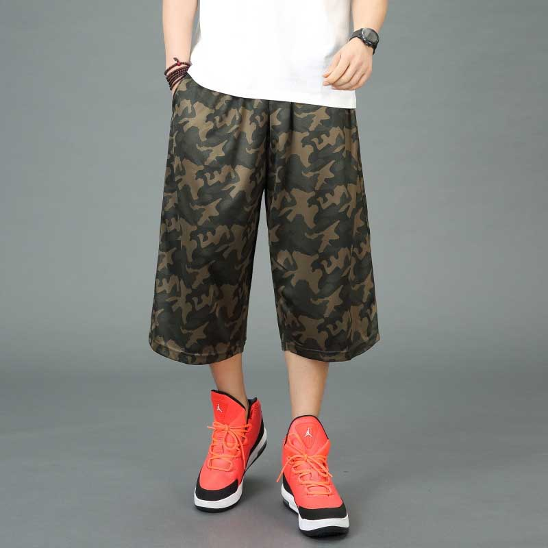 Fashion Loose Baggy Summer Shorts Men Casual Camouflace Elastic Waist Shorts Hip Hop Harem Boardshorts Male Clothes Plus Size