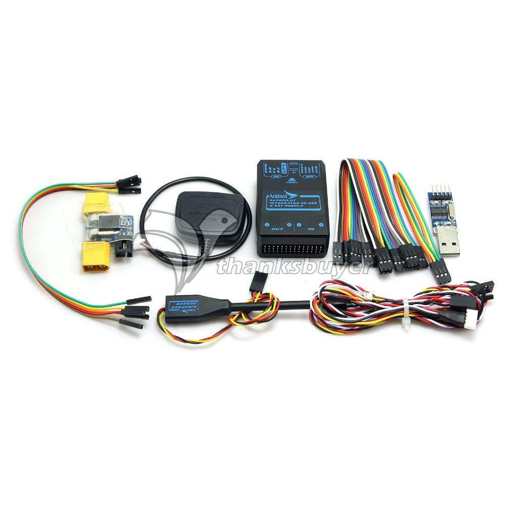 Aat With Fpv Wiring Diagram Diagrams Instructions Arkbird Autopilot 20 Flight Control Integrated Osd Module Wairspeed Meter For Multicopter