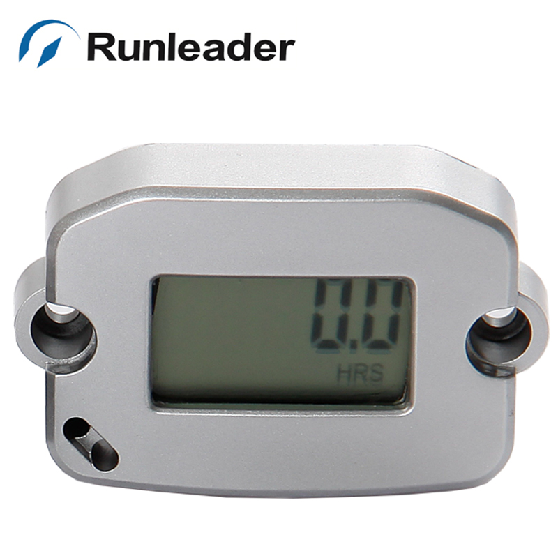 Free shipping Inductive LCD RPM tachometer Hour Meter for Gas boat marine chainsaw lawn mower ATV tractor jet ski pit bike