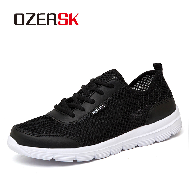 OZERSK Fashion Casual Shoes Woman And Men Summer Comfortable Breathable Mesh Flats Female Unisex Sneakers Women Chaussure Femme