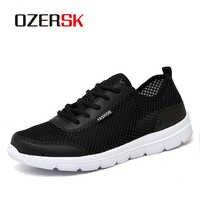 OZERSK chaussures de loisir à la mode Femme et hommes été confortable respirant maille chaussures plates Femme unisexe baskets femmes Chaussure Femme