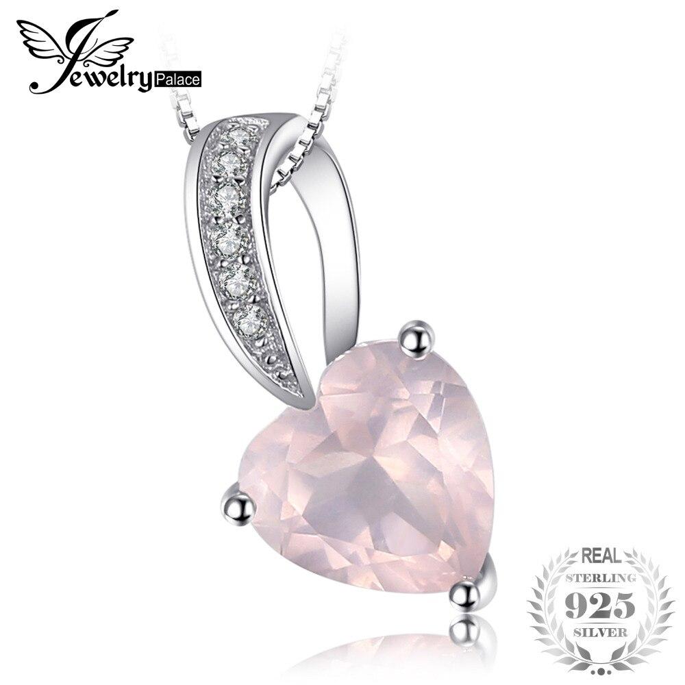 Anhänger Jewelrypalace Liebe Herz 1ct Natürliche Rosa Quarz Anhänger 100% 925 Sterling Silber Nicht Enthalten Eine Kette Romantische Edlen Schmuck PüNktliches Timing