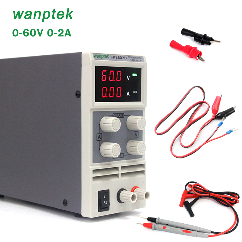 Mini laboratory power supply KPS602D 60V 2A Single phase adjustable SMPS Digital voltage regulator 0.1V 0.01A DC power supply cps 6011 60v 11a digital adjustable dc power supply laboratory power supply cps6011