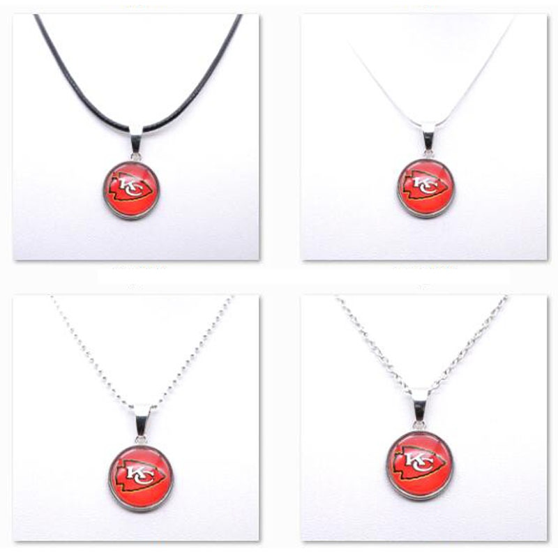 Necklace Pendant Women Necklace Children Necklace for Girl Kansas City Chiefs Charms Football Fans Gifts Party Birthday New 2018