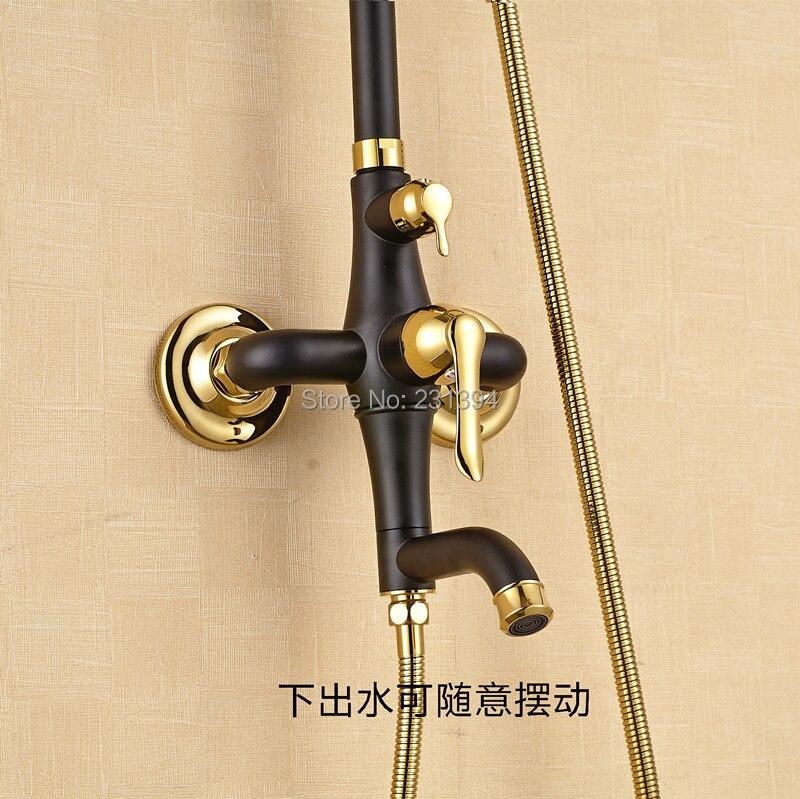 Antique European court style Mixed shower faucet sets Brass Black ...