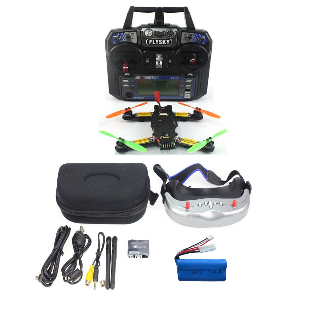 JMT FPV RC Mini Racing Quadcopter Drone Tarot 130 RTF Full Set TL130H1 CC3D 520TVL HD Camera 5.8G 32CH Goggle No Drone Battery