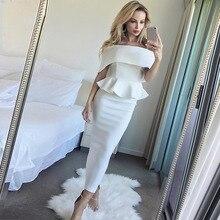 Seamyla 2019 Evening Party Dresses Women Sexy New Summer Ruffles Red Black White Dress Vestidos Mid
