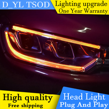 Car Styling Headlights For Citroen C3-XR 2015 LED Headlight for C3-XR Head Lamp LED Daytime Running Light LED DRL Bi-Xenon HID