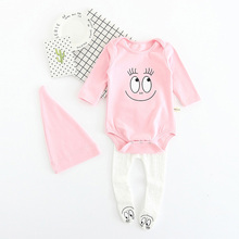 Cotton Clothing Set Romper+Trousers+Hat 3pcs Set