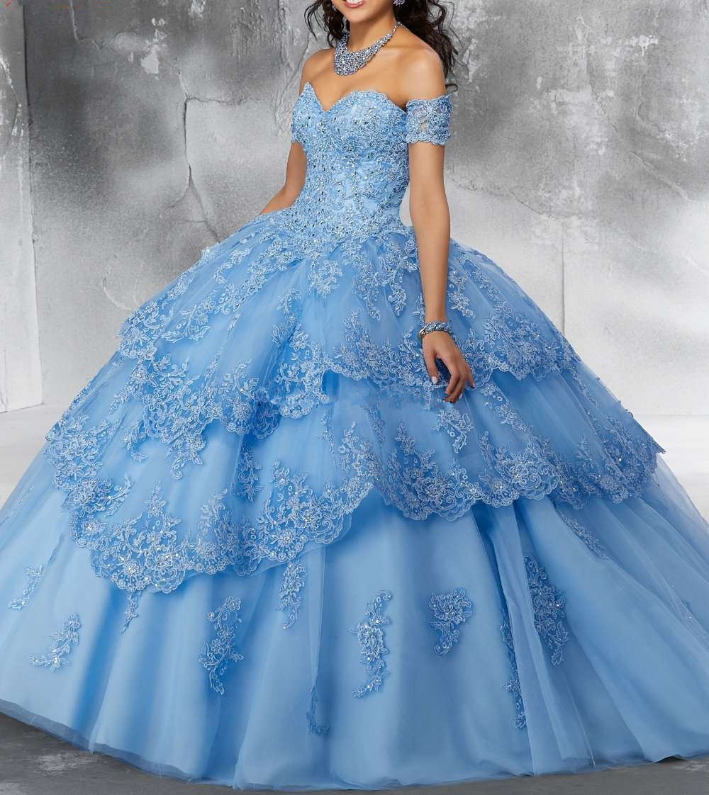 Image 5 - JaneVini Luxury Princess Ball Gown Red Quinceanera Dresses Sweetheart Appliques Heavy Beaded Pageant Prom Gowns Vestidos 15 AnosQuinceanera Dresses   -