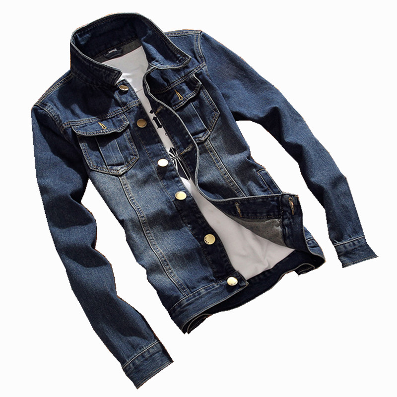 2018 New Spring Autumn denim jacket men fashion streetwear Male Vintage Frayed jeans jacket Fashion Design Male Vintage Frayed