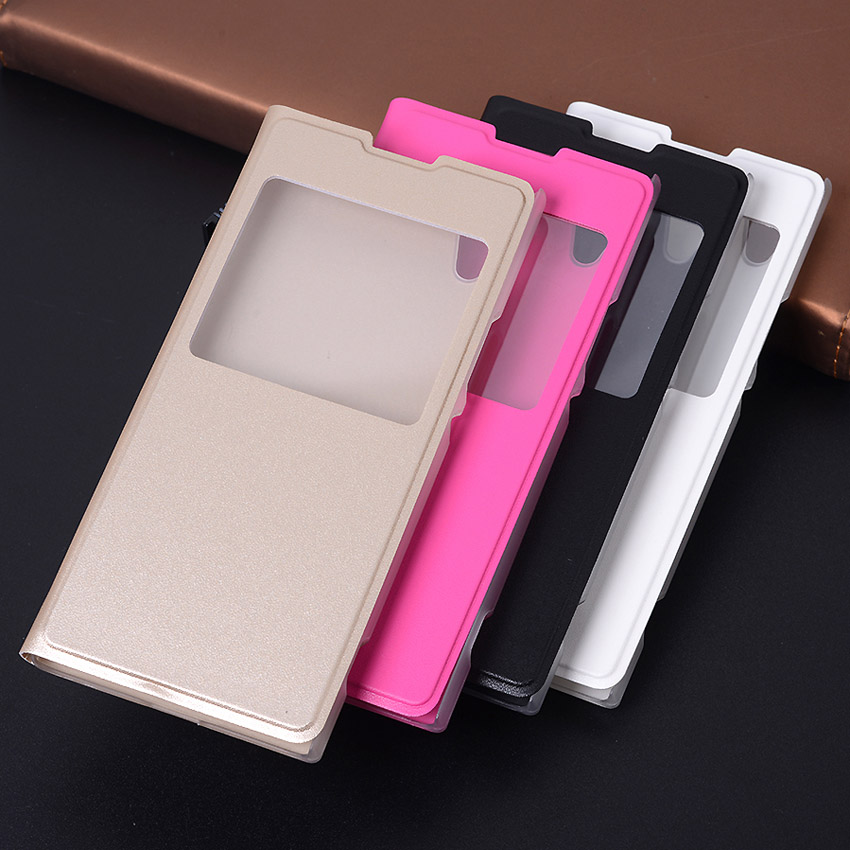 Shockproof Flip Cover with Window For Sony Xperia XA1 Ultra PU Leather Phone Sleeve Bag Case For Sony Xperia XA1 L1 Fundas Coque in Flip Cases from Cellphones Telecommunications