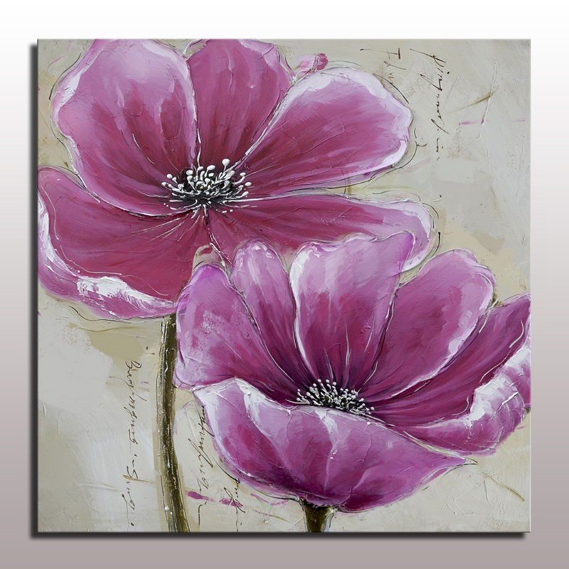 Cuadros Pintados En Acrilico Flower Pictures On The Wall For Living Room Decorative 100