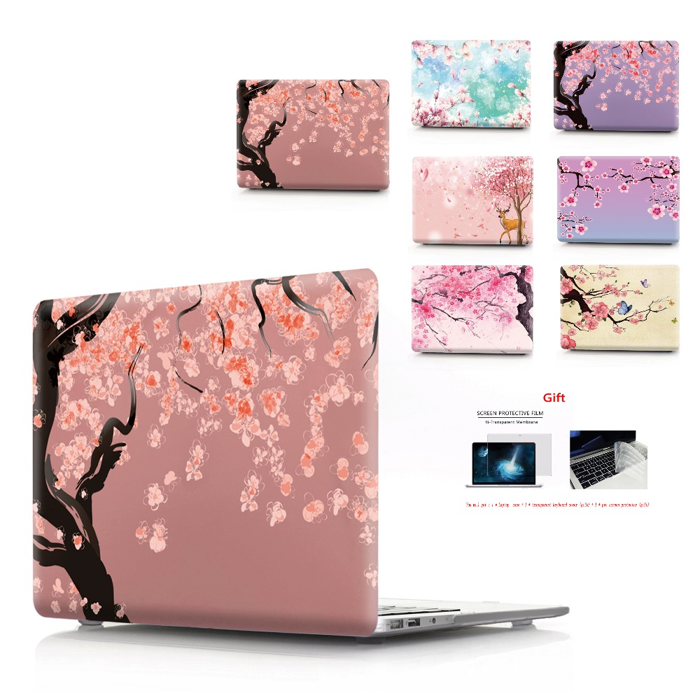 flower Color printing Laptop Case For MacBook Air Retina Pro 11 12 13 15 New with Touch Bar
